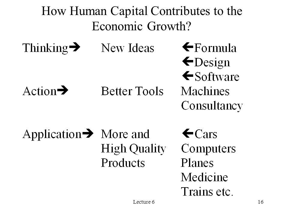 Lecture 616 How Human Capital Contributes to the Economic Growth?