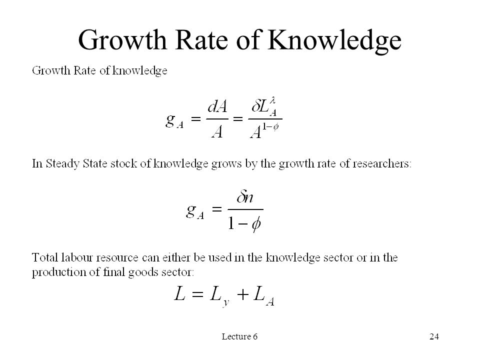 Lecture 624 Growth Rate of Knowledge