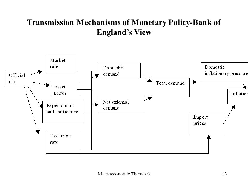 Macroeconomic Themes:313 Transmission Mechanisms of Monetary Policy-Bank of Englands View