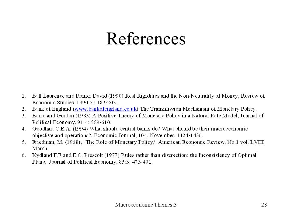 Macroeconomic Themes:323 References