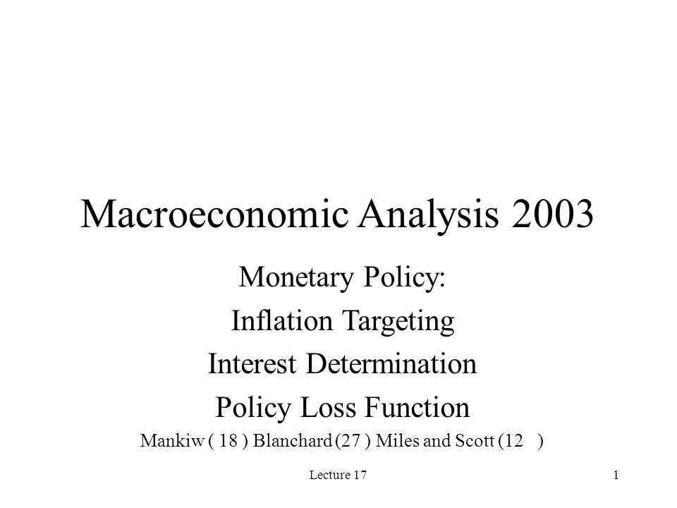 Lecture 1712 Inflation Bias of the Government