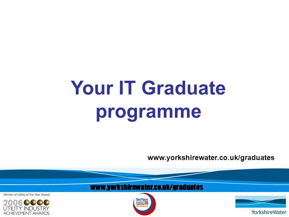 www.yorkshirewater.co.uk/graduates Your IT Graduate programme www.yorkshirewater.co.uk/graduates