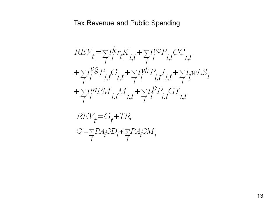 13 Tax Revenue and Public Spending