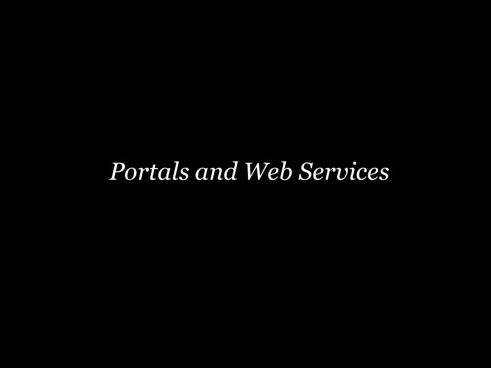 Portals and Web Services