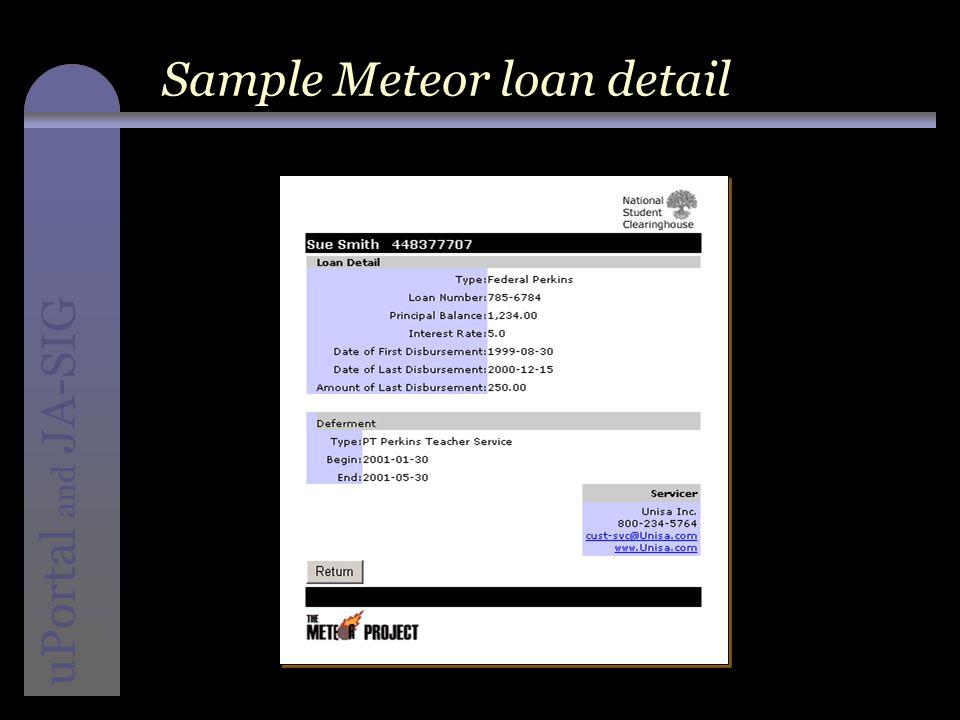 instructional media + magic uPortal and JA-SIG Sample Meteor loan detail