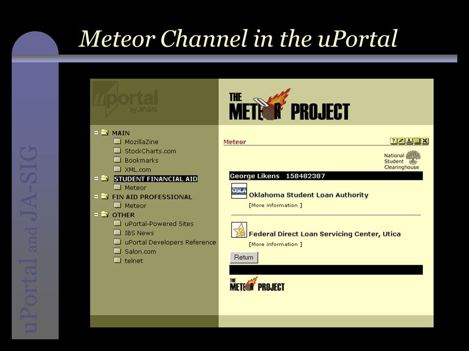 instructional media + magic uPortal and JA-SIG Meteor Channel in the uPortal
