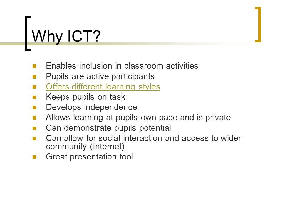 Why ICT.