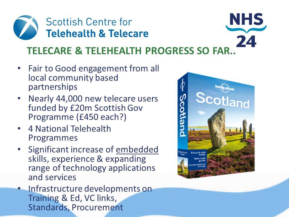 TELECARE & TELEHEALTH PROGRESS SO FAR..