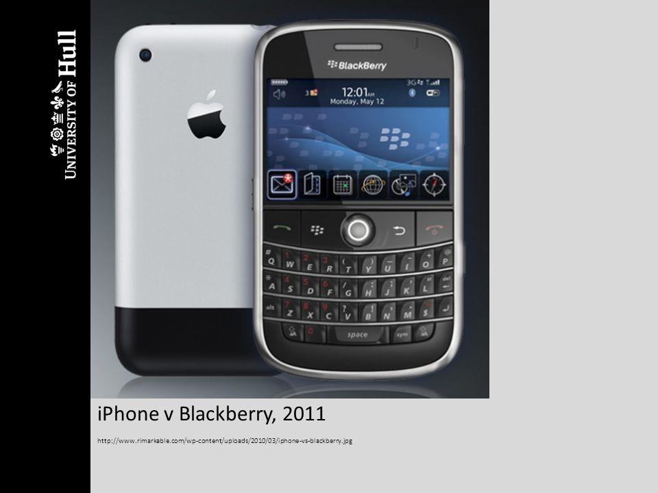 iPhone v Blackberry, 2011 http://www.rimarkable.com/wp-content/uploads/2010/03/iphone-vs-blackberry.jpg