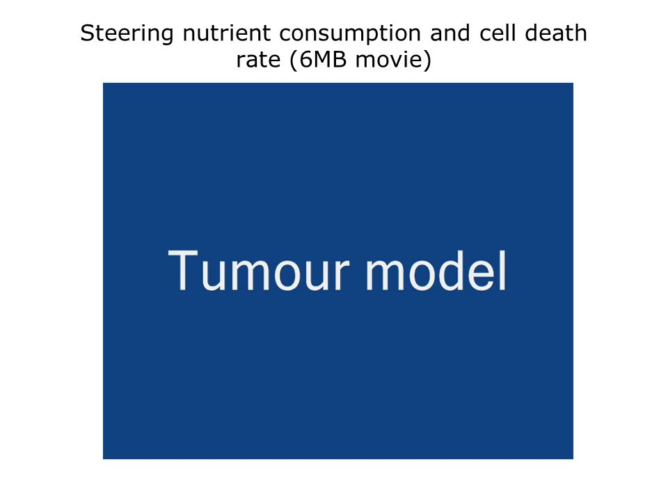 Steering nutrient consumption and cell death rate (6MB movie)