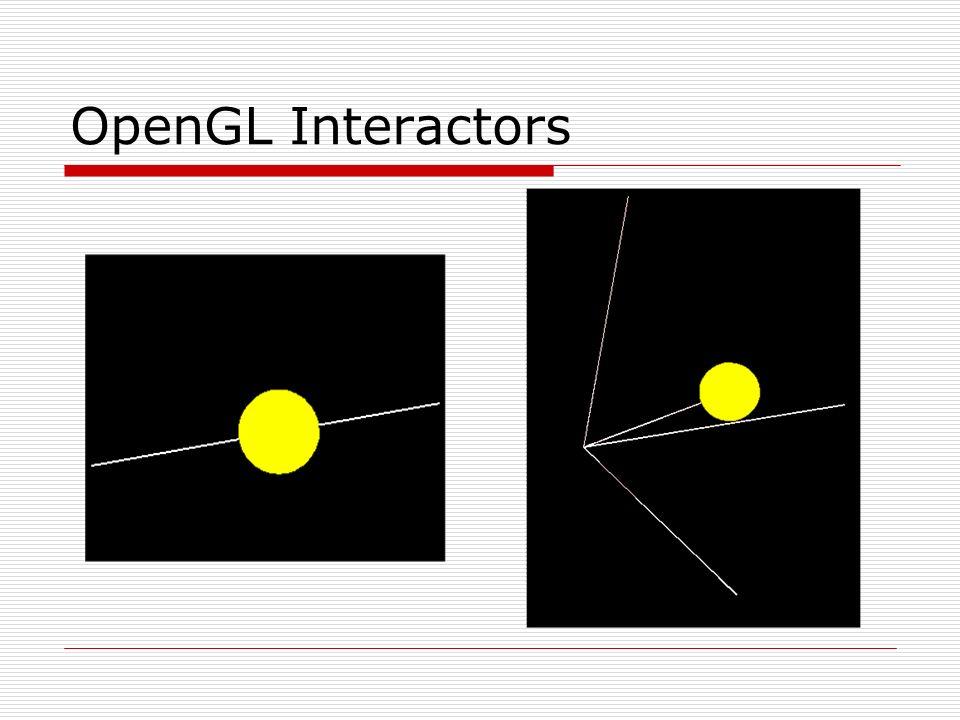 OpenGL Interactors