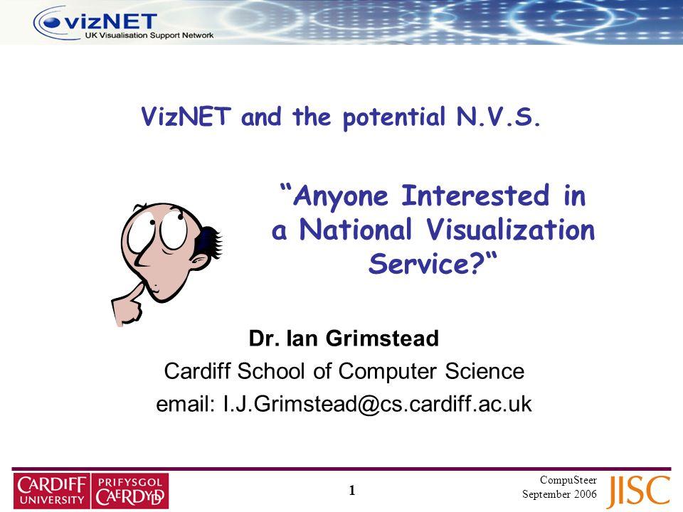 1 CompuSteer September 2006 VizNET and the potential N.V.S.