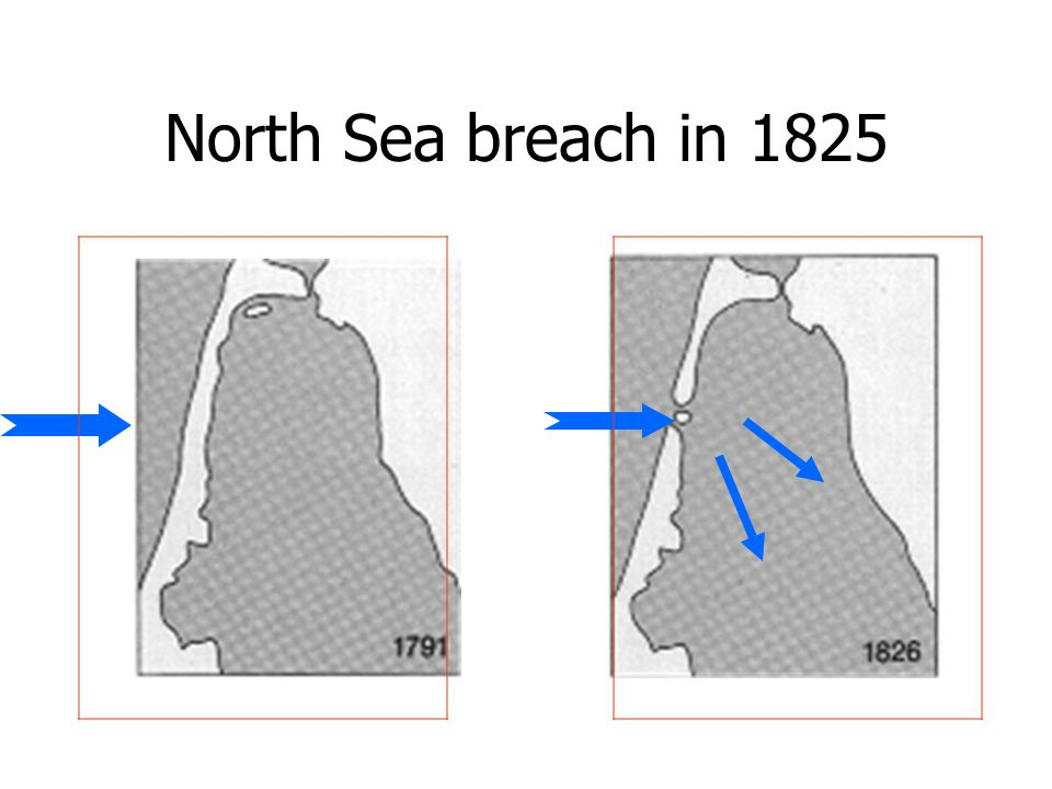 North Sea breach in 1825