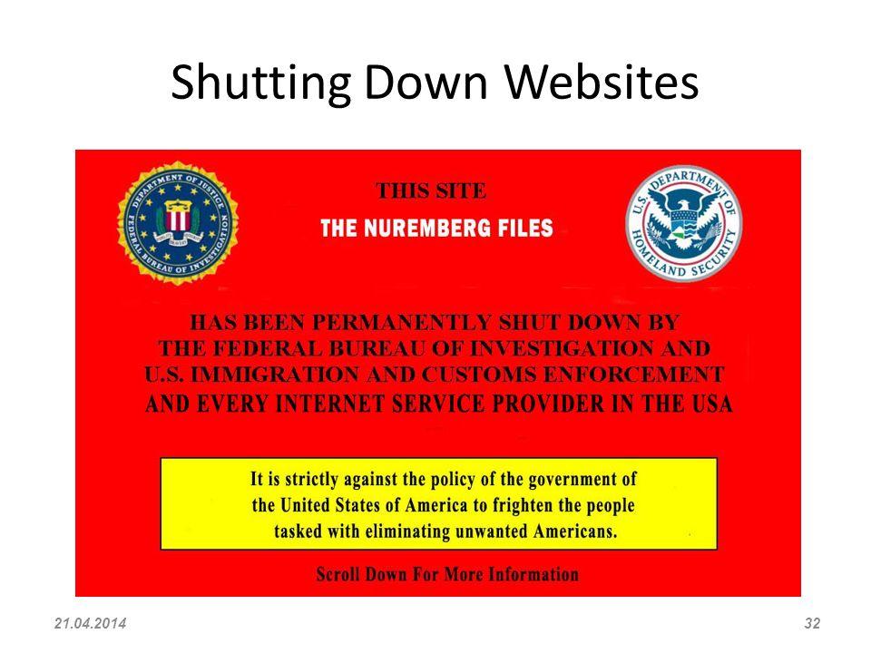 Shutting Down Websites 21.04.201432