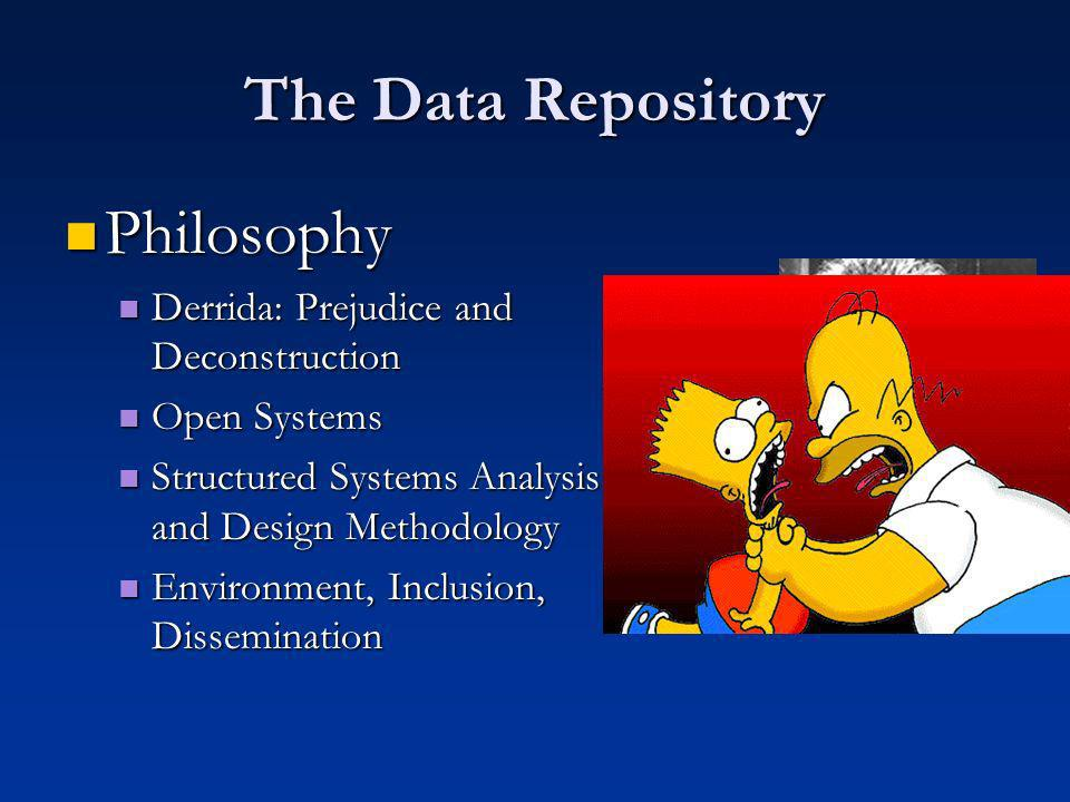 The Data Repository Relational Databases Relational Databases Flat Tables Flat Tables Relationships and links Relationships and links Normalising and Formatting Normalising and Formatting
