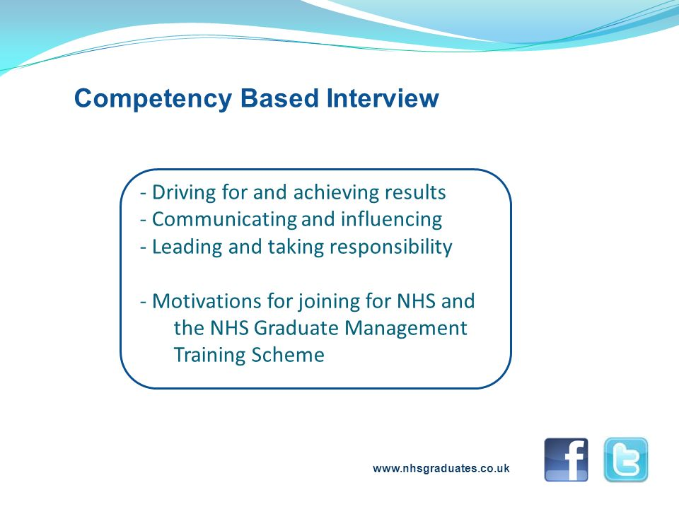 www.nhsgraduates.co.uk Follow us on Twitter @ NHSGradScheme Become a fan on Facebook: NHS Graduate Management Training Scheme fanpage For more information....