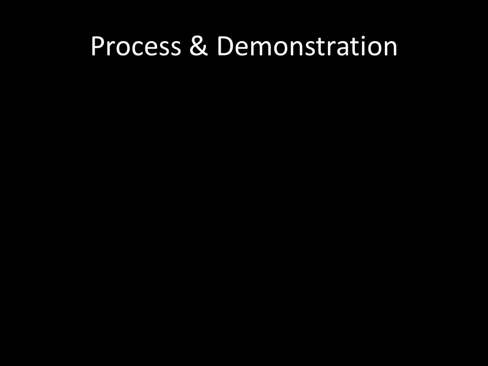 Process & Demonstration