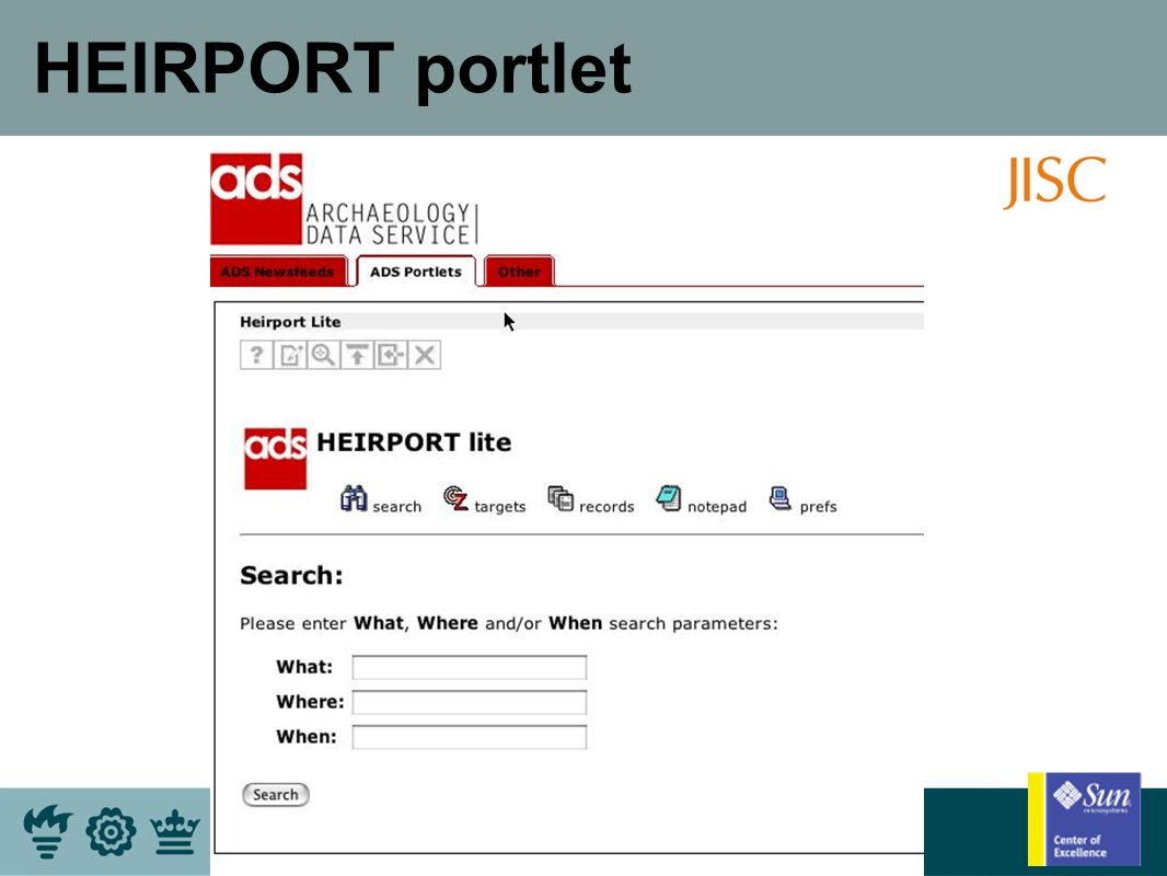 HEIRPORT portlet