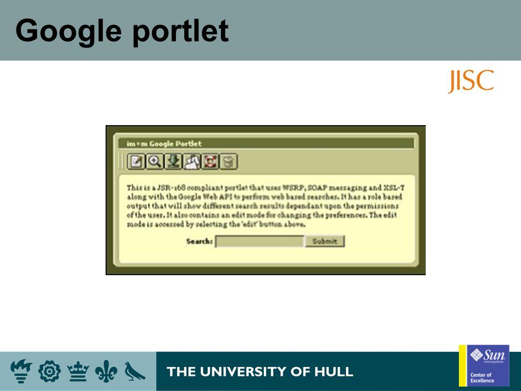 Google portlet