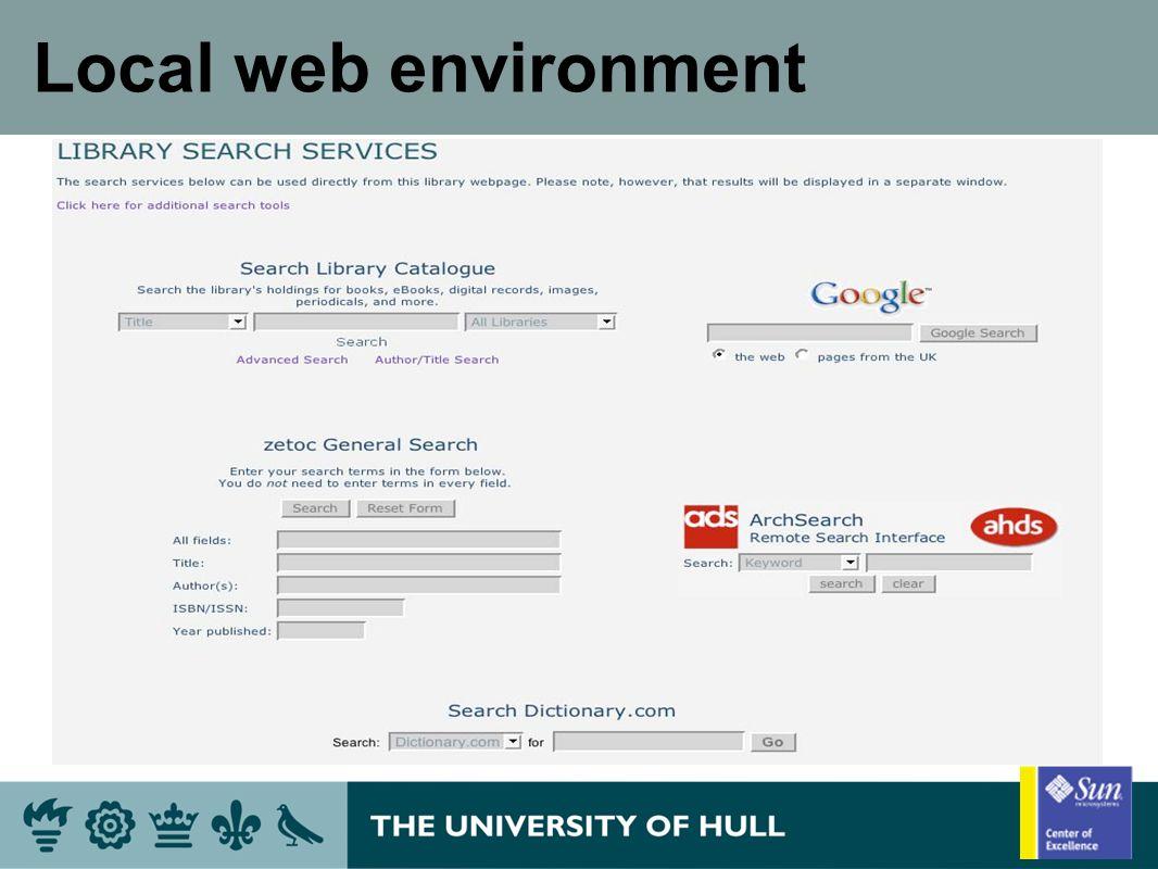 Local web environment