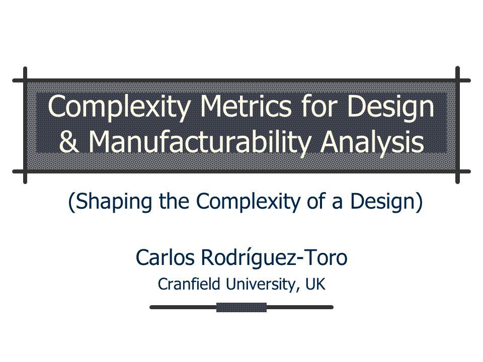 Complexity Analysis Taxonomy