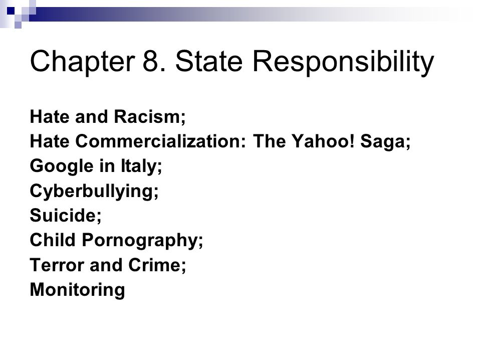 Chapter 8. State Responsibility Hate and Racism; Hate Commercialization: The Yahoo.