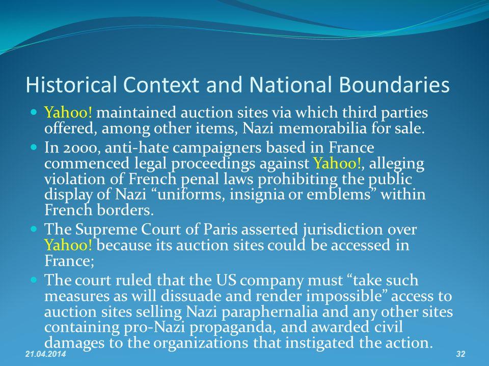 Historical Context and National Boundaries Yahoo.