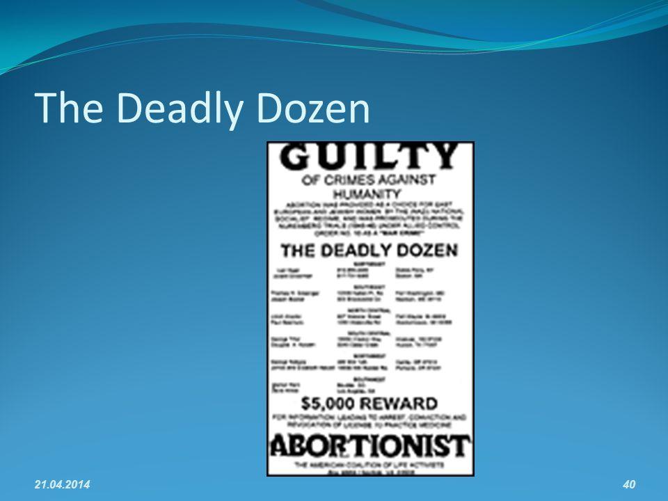 The Deadly Dozen 21.04.201440