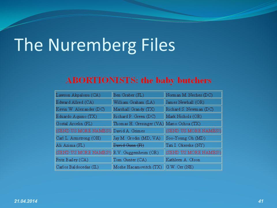 The Nuremberg Files 21.04.201441