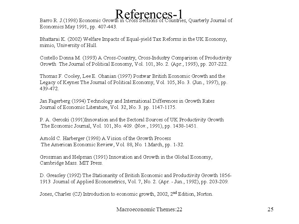 Macroeconomic Themes:2225 References-1