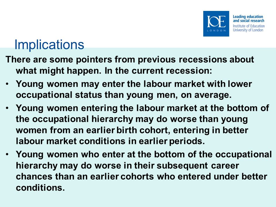 Implications There are some pointers from previous recessions about what might happen.