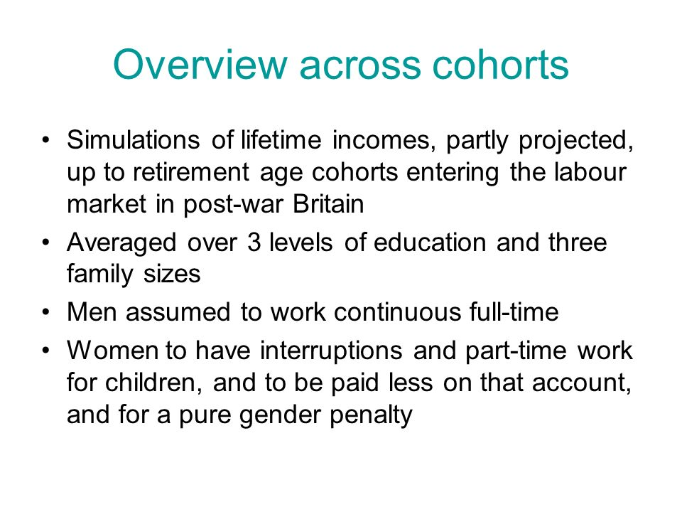 Cohort difference in relative earnings