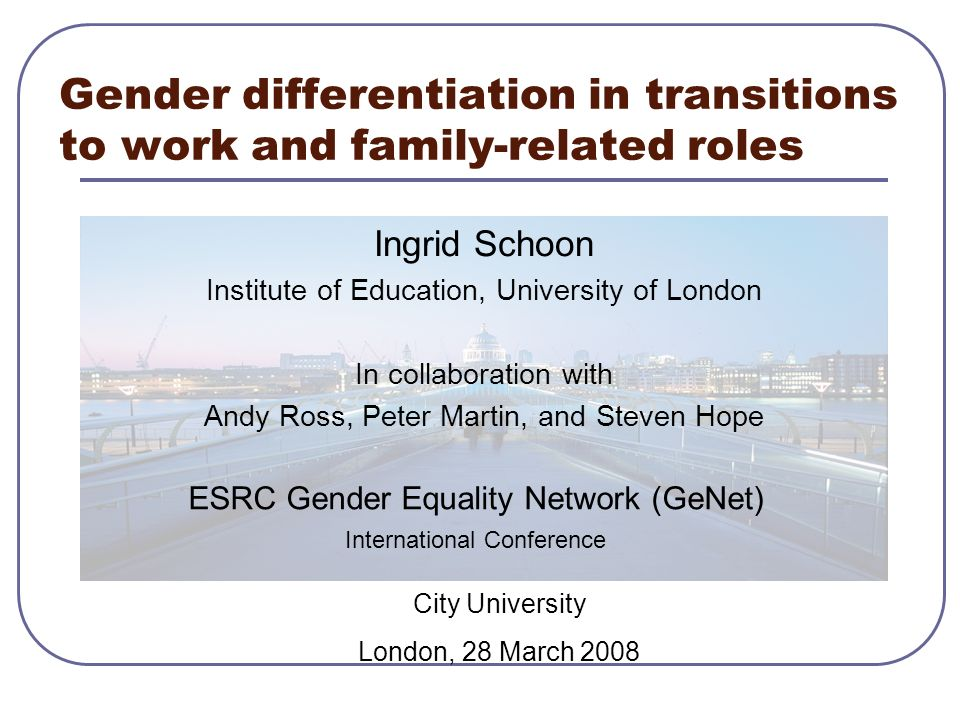 Transitions and Career Trajectories Transitions: leaving ft education entry to paid employment step into committed relationship parenthood Career trajectories: dynamic context in which transitions take place