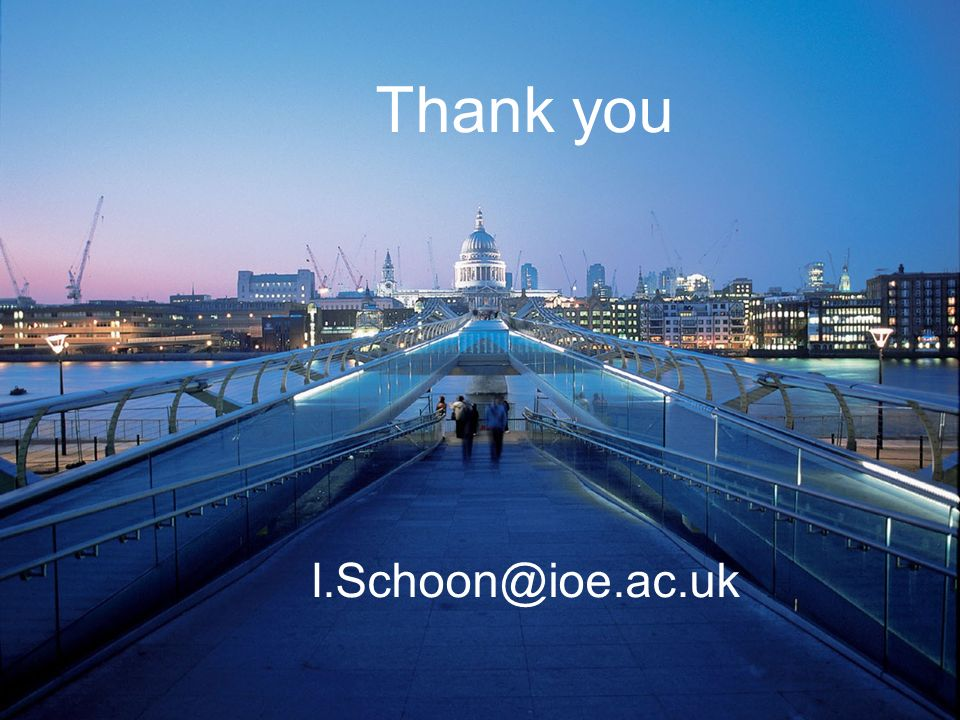 Thank you I.Schoon@city.ac.uk Thank you I.Schoon@ioe.ac.uk