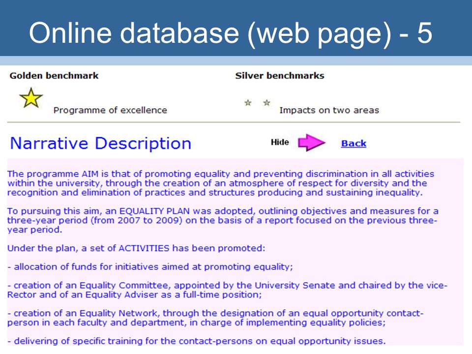 29 Online database (web page) - 5