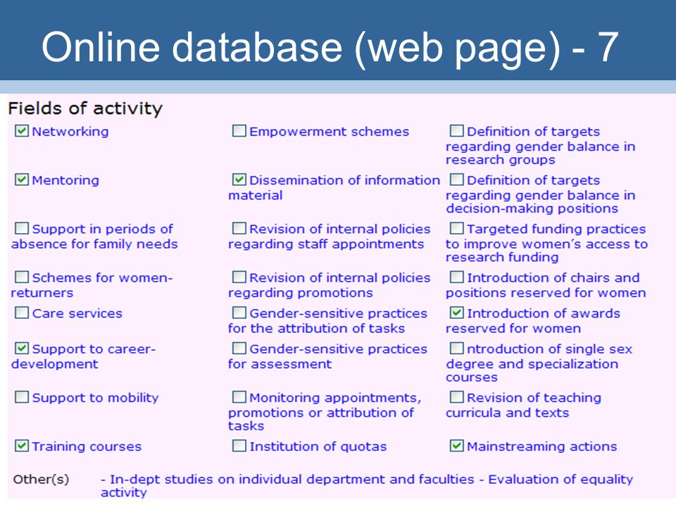 31 Online database (web page) - 7