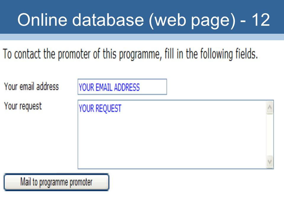 36 Online database (web page) - 12