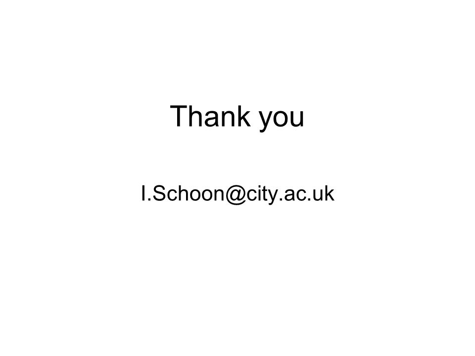Thank you I.Schoon@city.ac.uk