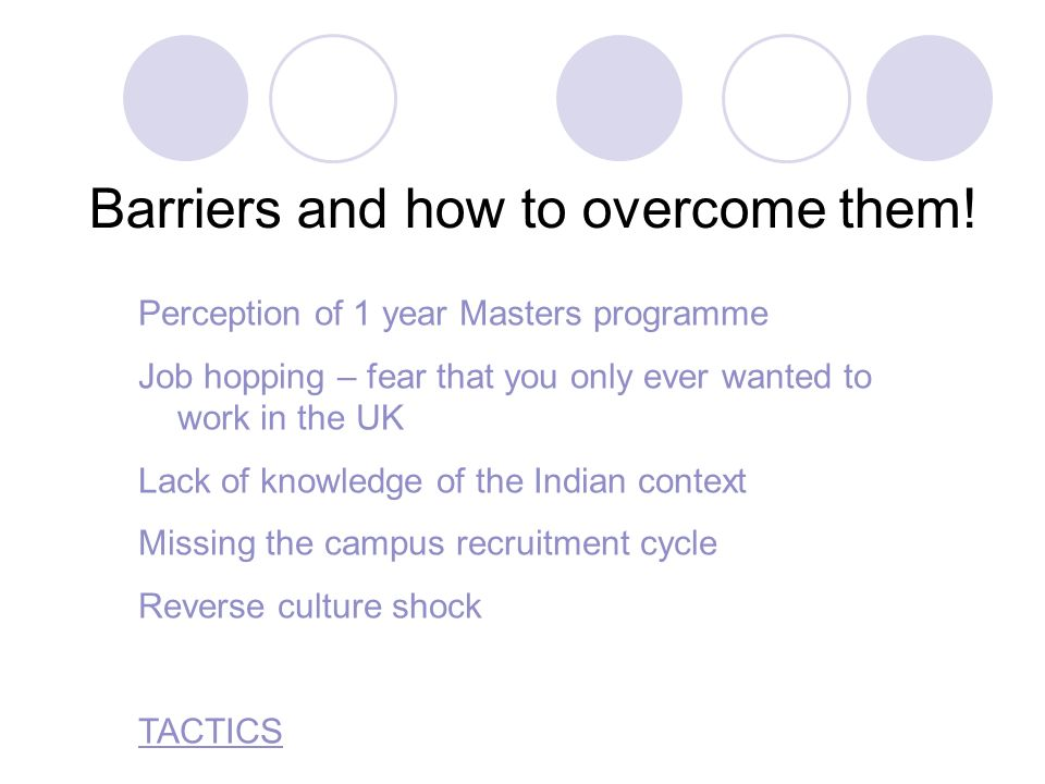 14 Barriers and how to overcome them.