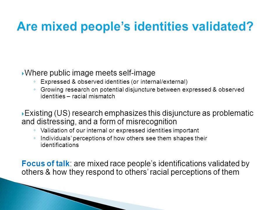 Where public image meets self-image Expressed & observed identities (or internal/external) Growing research on potential disjuncture between expressed