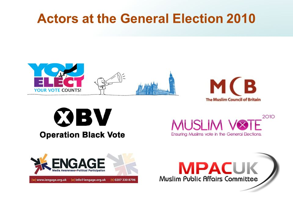 Actors at the General Election 2010