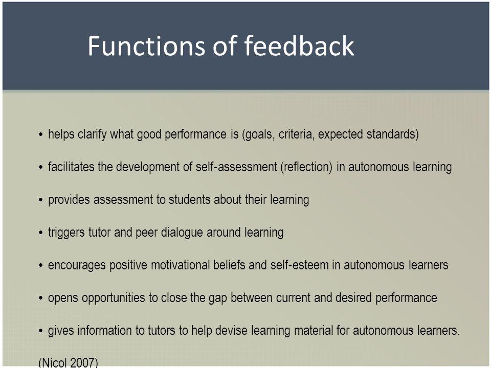 Communicative pattern in feedback on poorly written work Naming the mistake - Describing the mistake.