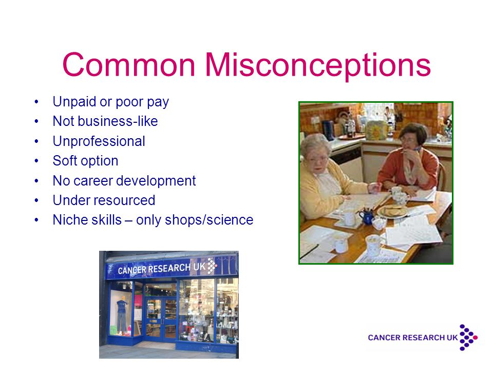 Common Misconceptions Unpaid or poor pay Not business-like Unprofessional Soft option No career development Under resourced Niche skills – only shops/science