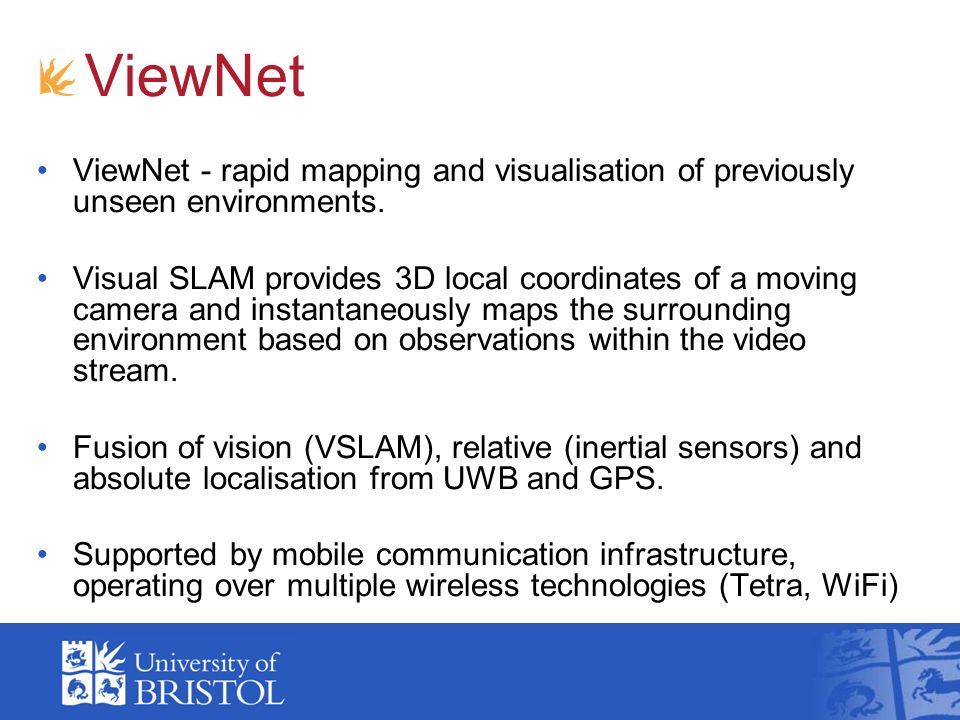 ViewNet ViewNet - rapid mapping and visualisation of previously unseen environments.