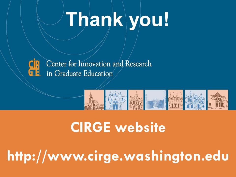 CIRGE website http://www.cirge.washington.edu Thank you!