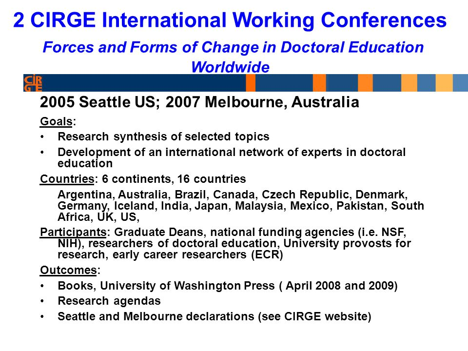 Past Differences 1.Major difference between US doctoral education and else where in the world.