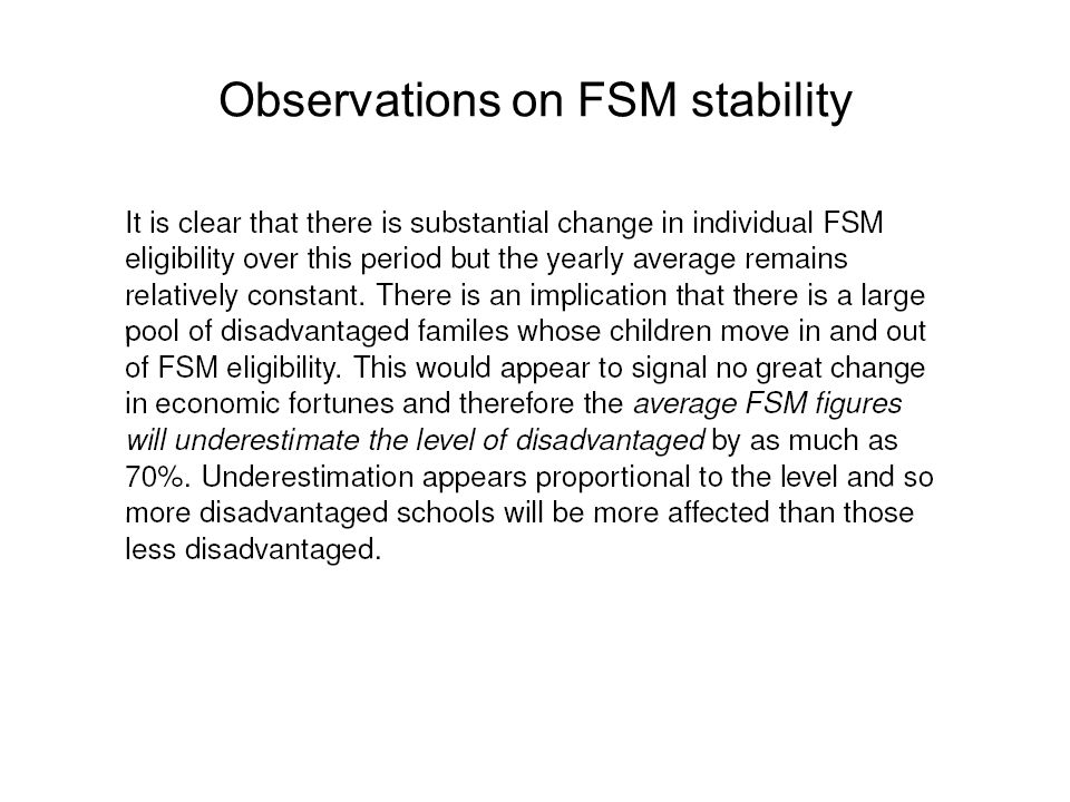 Observations on FSM stability