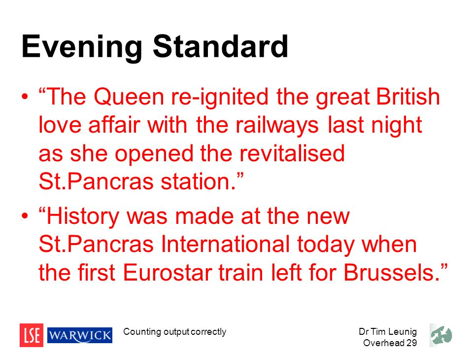 Evening Standard The Queen re-ignited the great British love affair with the railways last night as she opened the revitalised St.Pancras station.