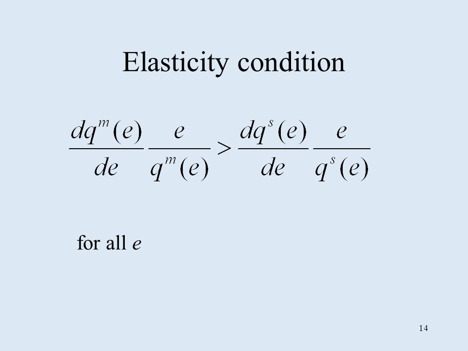 14 Elasticity condition for all e