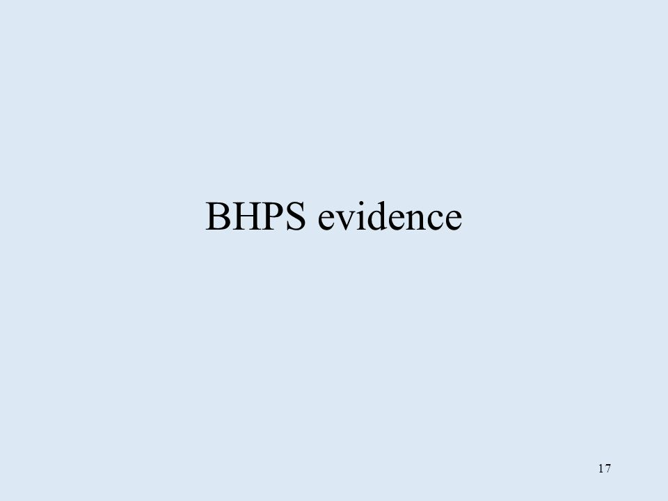 17 BHPS evidence